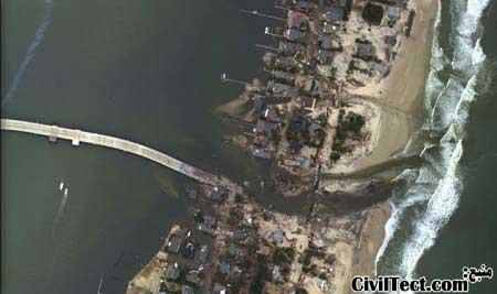 تصاویر هوایی طوفان سندی