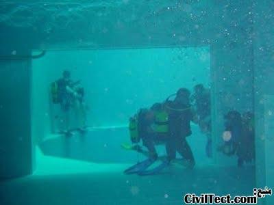 غارهای زیرآبی شبیه سازی شده