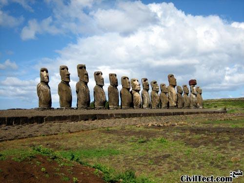 معمای مجسمه های سنگی جزیره ایستر