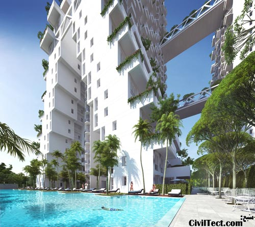 برجهای دوقلو جدید سنگاپور - برج بلوکی