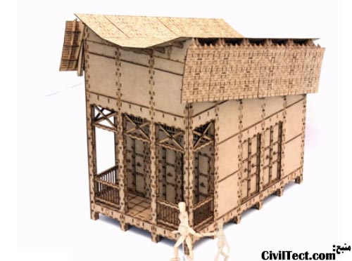 خانه زلزله زدگان ساخته شده از MDF