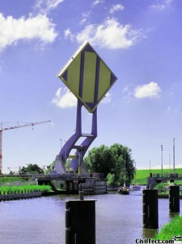 پل متحرک شهر Leeuwarden  هلند