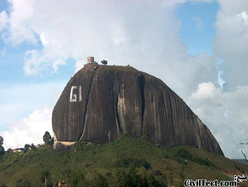 سنگ عظیم شهر Guatapé