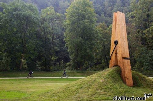 اثر هنری جالب در پارک بلژیک