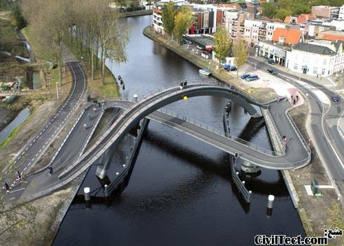 پل جالب در هلند