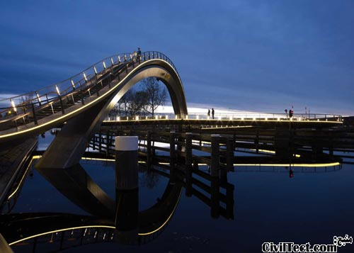 پل عابرین پیاده و دوچرخه سواران