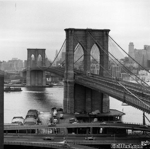 پل بروکلین و مشکلات پلسازی در ۱۳۰ سال پیش