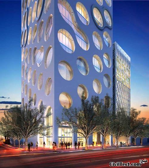 برج طراحی شده توسط معماران اوپنهایم
