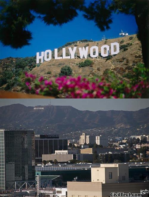 علامت هالیوود آمریکا - Hollywood sign USA