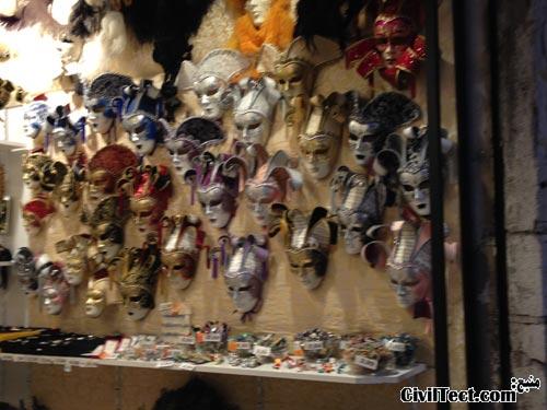 مغازه های ونیزی – ماسک ونیزی