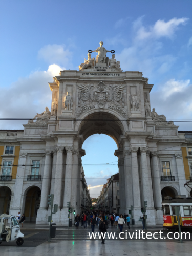 طاق Arco da Rua Augusta (طاق خیابان آگوستا)