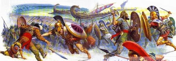 نقاشی از جنگ ایرانیان و یونان در نبر ماراتن - آیا میدانستید مسافت 42 کیلومتری دوی ماراتن برگرفته از مسافتی است که خبر پیروزی یونان را یکی از سربازان به آتن برد؟