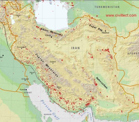 زلزله های 110 سال گذشته ایران